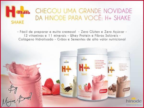 Shake Hinode - sem glúten, zero açúcar e com whey protein